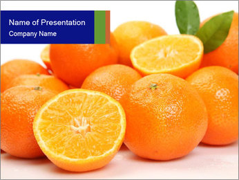 Sliced Oranges PowerPoint Templates - Slide 1