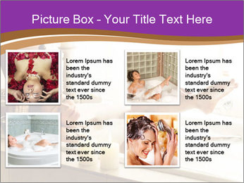 Relaxed Woman In Bath PowerPoint Template - Slide 14