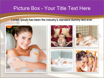 Relaxed Woman In Bath PowerPoint Template - Slide 19
