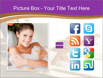 Relaxed Woman In Bath PowerPoint Template - Slide 21