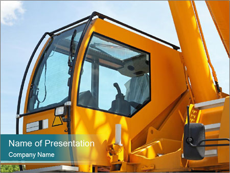 Yellow Crane PowerPoint Templates