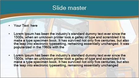 Yellow Crane PowerPoint Template - Slide 2