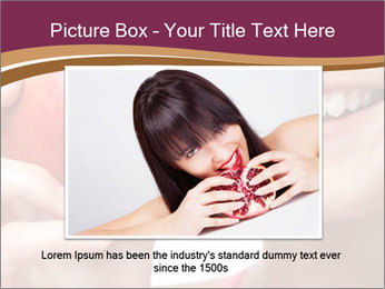 Smiling Woman And Red Apple PowerPoint Templates - Slide 16