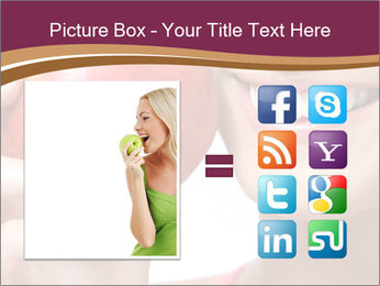 Smiling Woman And Red Apple PowerPoint Templates - Slide 21