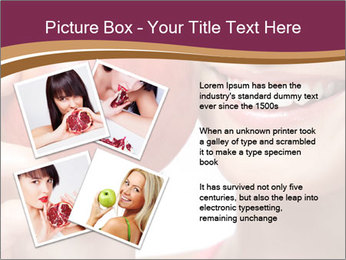 Smiling Woman And Red Apple PowerPoint Templates - Slide 23