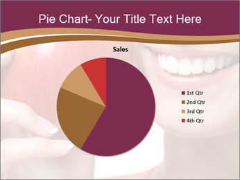 Smiling Woman And Red Apple PowerPoint Templates - Slide 36