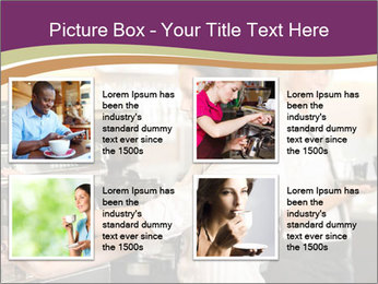 Woman Working In Coffeehouse PowerPoint Template - Slide 14