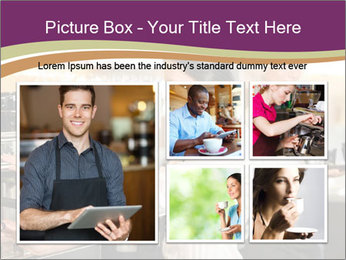 Woman Working In Coffeehouse PowerPoint Template - Slide 19