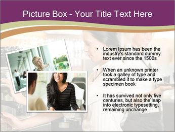 Woman Working In Coffeehouse PowerPoint Template - Slide 20