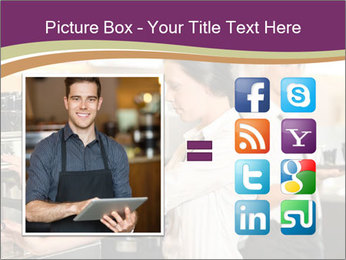 Woman Working In Coffeehouse PowerPoint Template - Slide 21