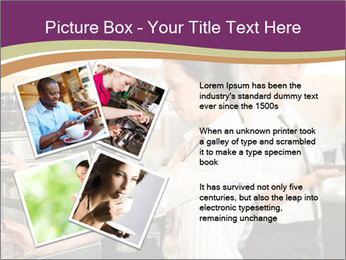 Woman Working In Coffeehouse PowerPoint Templates - Slide 23