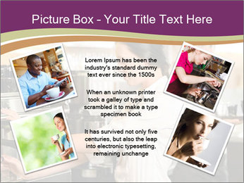 Woman Working In Coffeehouse PowerPoint Template - Slide 24