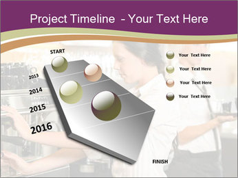 Woman Working In Coffeehouse PowerPoint Template - Slide 26