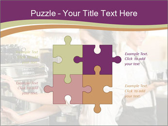 Woman Working In Coffeehouse PowerPoint Templates - Slide 43