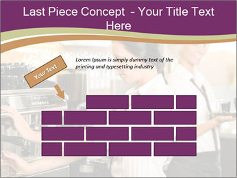 Woman Working In Coffeehouse PowerPoint Templates - Slide 46