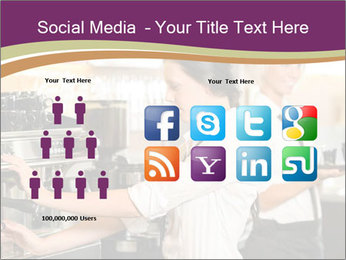 Woman Working In Coffeehouse PowerPoint Template - Slide 5
