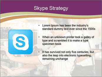 Woman Working In Coffeehouse PowerPoint Template - Slide 8