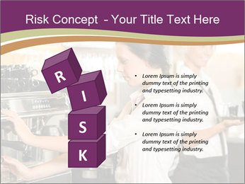 Woman Working In Coffeehouse PowerPoint Templates - Slide 81