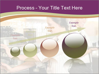 Woman Working In Coffeehouse PowerPoint Templates - Slide 87