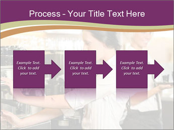Woman Working In Coffeehouse PowerPoint Templates - Slide 88