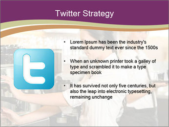 Woman Working In Coffeehouse PowerPoint Template - Slide 9