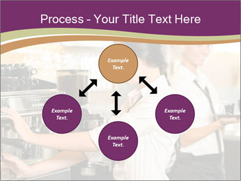 Woman Working In Coffeehouse PowerPoint Templates - Slide 91