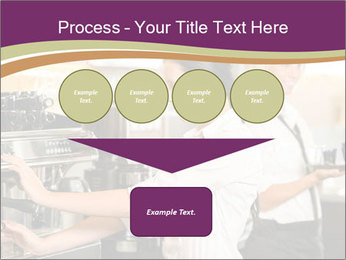 Woman Working In Coffeehouse PowerPoint Templates - Slide 93