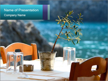 Cafe With Sea View PowerPoint Templates - Slide 1