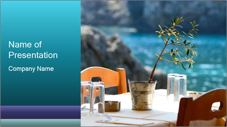 Cafe With Sea View PowerPoint Template
