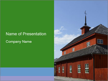Museum Building PowerPoint Template - Slide 1