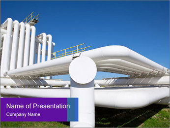 White Pipes PowerPoint Template - Slide 1