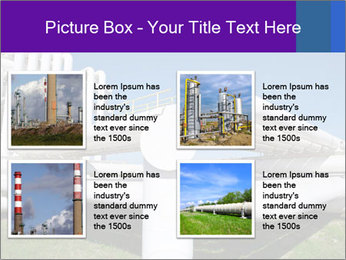 White Pipes PowerPoint Template - Slide 14