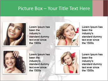 Smiling Brunette Woman PowerPoint Template - Slide 14