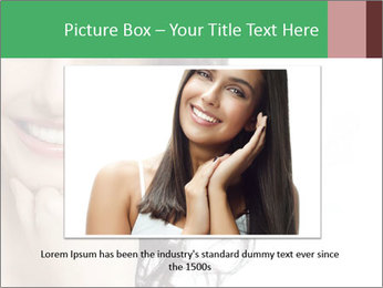 Smiling Brunette Woman PowerPoint Template - Slide 16