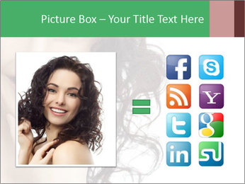 Smiling Brunette Woman PowerPoint Template - Slide 21