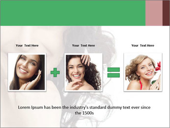 Smiling Brunette Woman PowerPoint Template - Slide 22