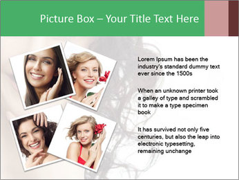 Smiling Brunette Woman PowerPoint Template - Slide 23