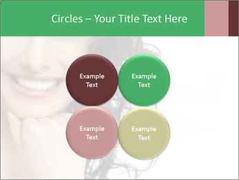 Smiling Brunette Woman PowerPoint Template - Slide 38