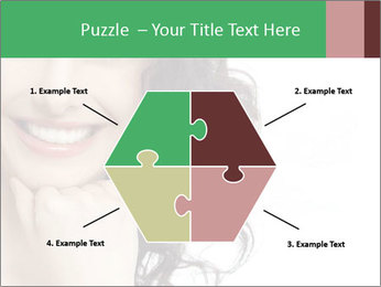 Smiling Brunette Woman PowerPoint Template - Slide 40