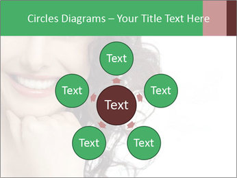 Smiling Brunette Woman PowerPoint Template - Slide 78