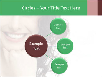 Smiling Brunette Woman PowerPoint Template - Slide 79