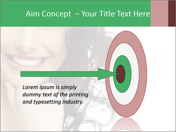 Smiling Brunette Woman PowerPoint Template - Slide 83
