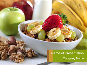 Healthy Food For Breakfast PowerPoint Template