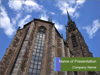 Blue Sky And Church PowerPoint Template - Slide 1