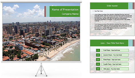 Air View of Brazil PowerPoint Template