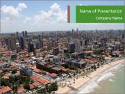 Air View of Brazil PowerPoint Templates