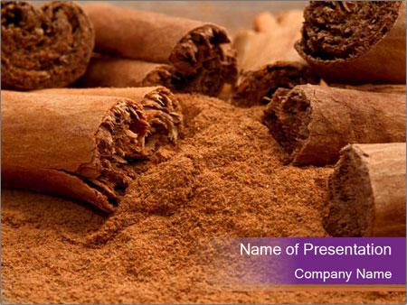 Cinnamon Powder PowerPoint Template