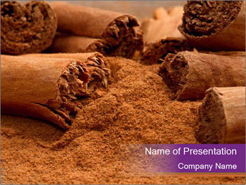Cinnamon Powder PowerPoint Template