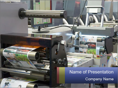 Offset Machine PowerPoint Templates