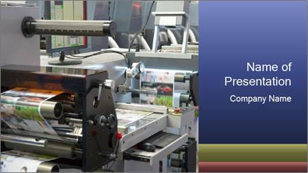 Offset Machine PowerPoint Template